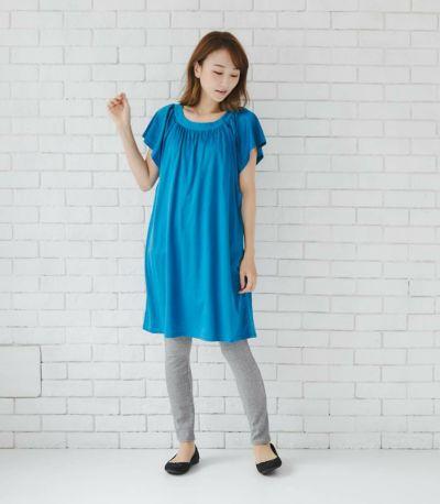 授乳服 モンターニュ ナイトブルー ロング丈 164cm