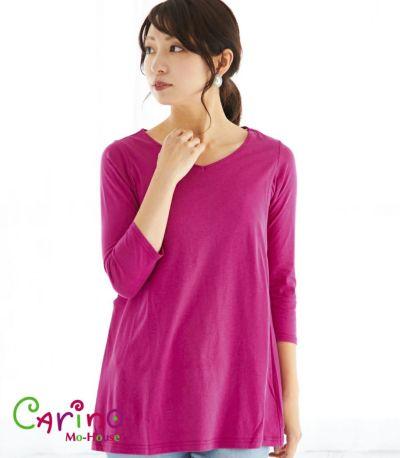 CARINO-DT チュニック 授乳服 日本製【授乳服・マタニティウェア・授乳ブラ】