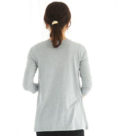 授乳服 CARINO-DTチュニック 杢グレー Mサイズ 160cm