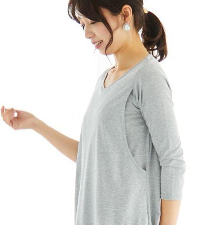 授乳服 CARINO-DTチュニック コーラル Mサイズ 160cm