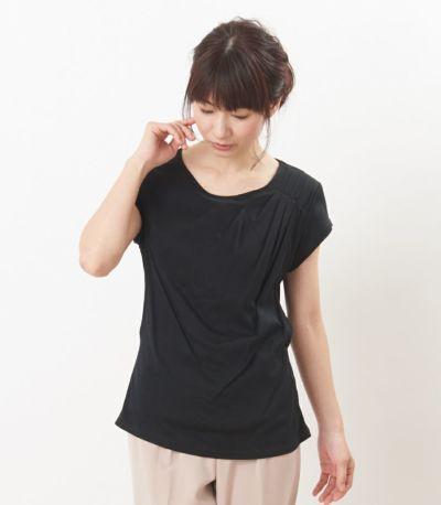 フロントスタイル 授乳服 ポルテ ブラック Mサイズ 160cm