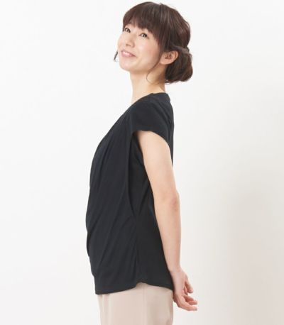 サイドスタイル 授乳服 ポルテ ブラック Mサイズ 160cm