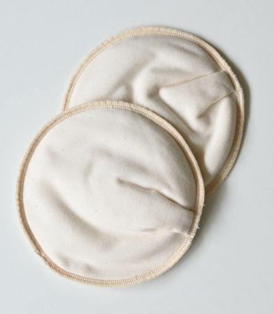 タオル生地、スムース生地、平織り生地が5層の授乳パッド(母乳パット)です。