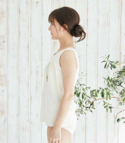 オーガニック穴あきインナー(キャミ)【授乳服・マタニティウェア・授乳ブラ】