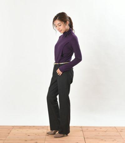 サイドスタイル 授乳服 デュアルウォームタートル パープル Mサイズ 159cm