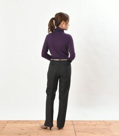 バックスタイル 授乳服 デュアルウォームタートル パープル Mサイズ 159cm