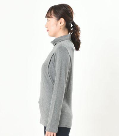 サイドスタイル 授乳服 デュアルウォームタートル 杢グレー Lサイズ 164cm