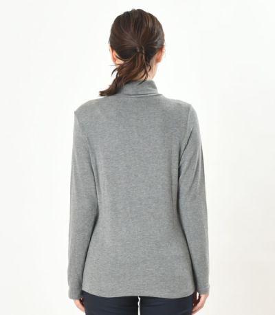 バックスタイル 授乳服 デュアルウォームタートル 杢グレー Lサイズ 164cm