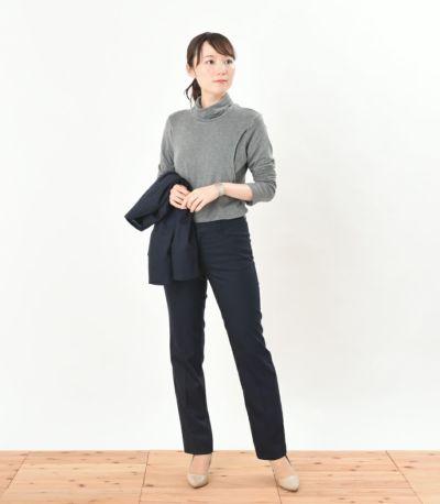 授乳服 デュアルウォームタートル 杢グレー Lサイズ 164cm