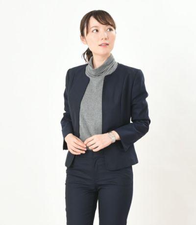 ジャケットとの相性も◎。 授乳服 デュアルウォームタートル 杢グレー Lサイズ 164cm
