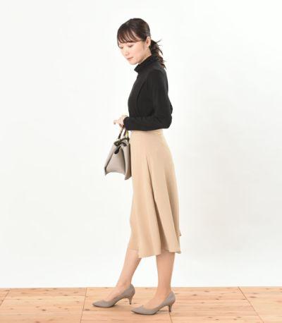 サイドスタイル 授乳服 デュアルウォームタートル ブラック Lサイズ 164cm