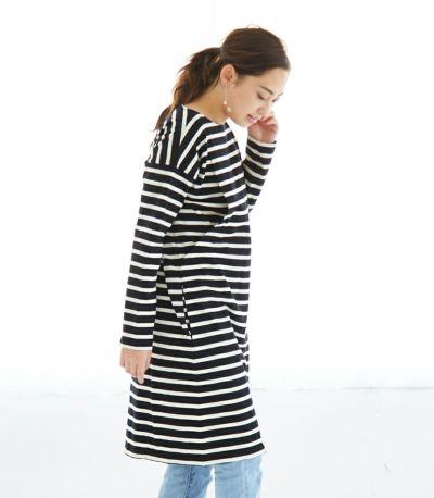サイドスタイル 授乳服 デラヴェボーダー ブラック×オフホワイト 164cm