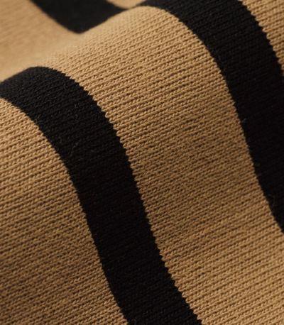 しっかりとした目の詰まった綿100%素材。発色がよく、くっきりとクリアーなボーダー。