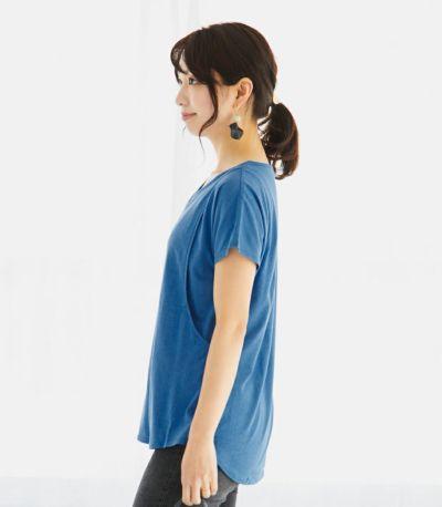 サイドスタイル 授乳服 CARINO-DT VネックT スカイブルー Mサイズ 160cm