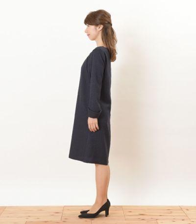 サイドスタイル 授乳服 ツイードワンピ ネイビー Mサイズ 160㎝