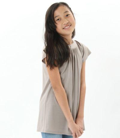 サイドスタイル 授乳服〈こども服〉 モンターニュ・キッズ カフェラテ 150㎝