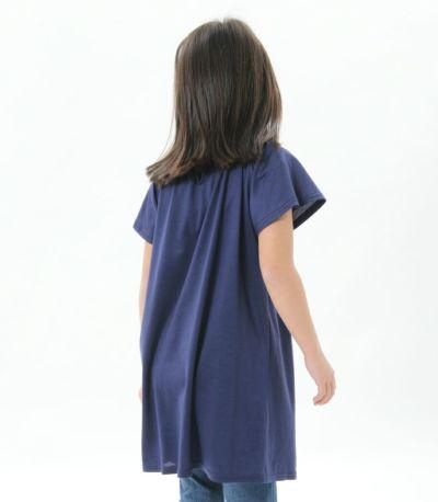 バックスタイル 授乳服〈こども服〉 モンターニュ・キッズ ナイトブルー 120㎝