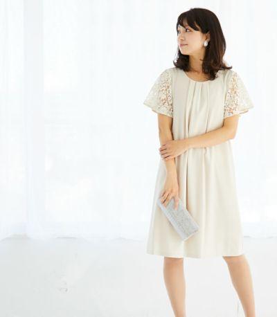 サイドスタイル 授乳服 ジョーゼットワンピ ベージュ 160cm