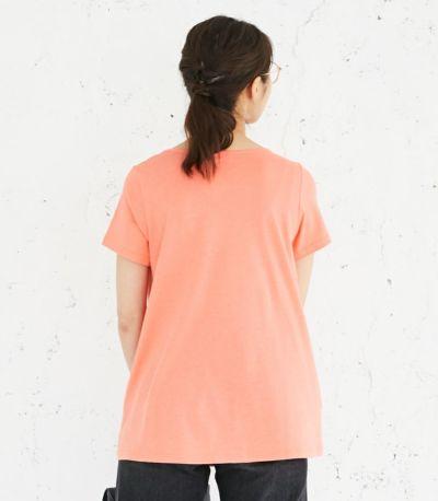 バックスタイル 授乳服 CARINO-DT チュニックショートスリーブ  コーラル Mサイズ 160㎝