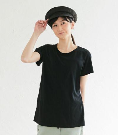 フロントスタイル 授乳服 フローラル ブラック(A)164cm