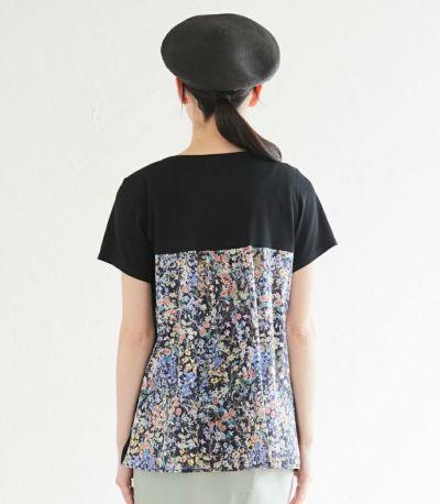 バックスタイル 授乳服 フローラル ブラック(A)164cm
