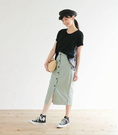 授乳服 フローラル ブラック(A)164cm
