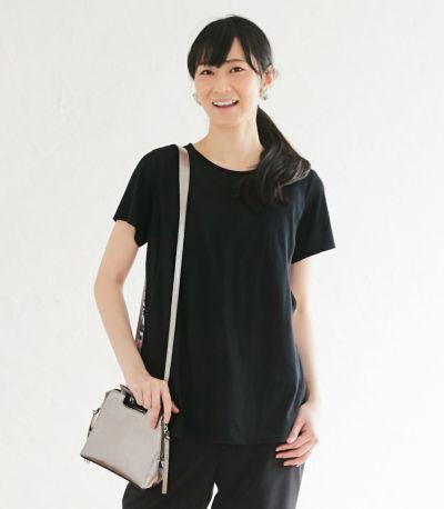フロントスタイル 授乳服 フローラル ブラック(B)164cm