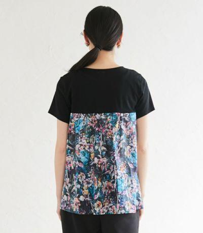 バックスタイル 授乳服 フローラル ブラック(B)164cm