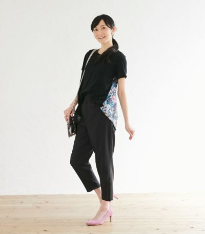 授乳服 フローラル ブラック(B)164cm