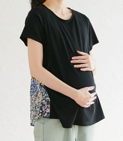 マタニティ(腹囲100cm)対応の授乳服。産前も産後のきれいなシルエット。