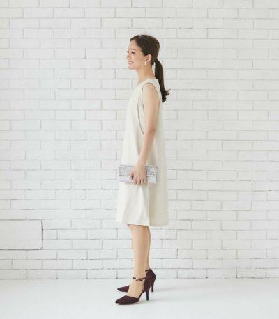フロントスタイル 授乳服 エクラ ベージュ 164cm