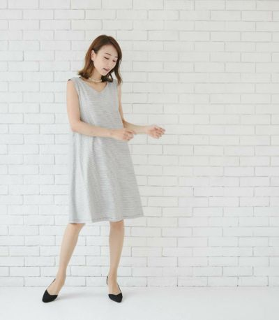 サイドスタイル 授乳服 エクラ ブラック×ホワイト 160cm