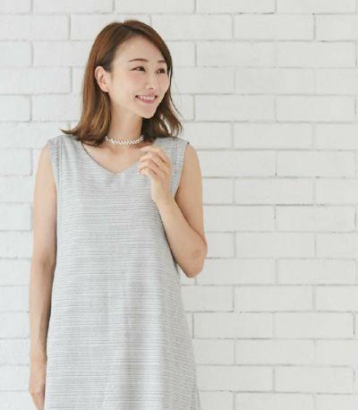 バックスタイル 授乳服 エクラ ブラック×ホワイト 160cm