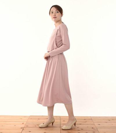 サイドスタイル 授乳服 フロンセ グレイッシュピンク 164cm