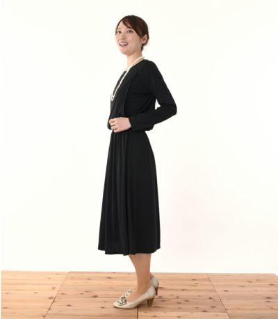 サイドスタイル 授乳服 フロンセ ブラック 164cm