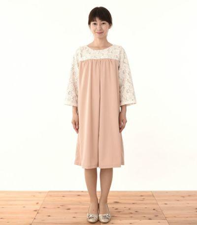 フロントスタイル 授乳服 ヴィーナススウェードレーシー ピンクベージュ 160cm