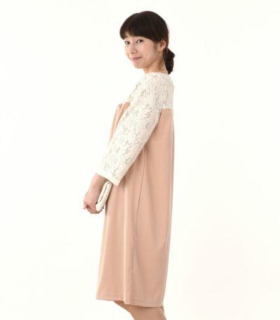 サイドスタイル 授乳服 ヴィーナススウェードレーシー ピンクベージュ 160cm