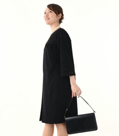 サイドスタイル 授乳服 ヴィーナススウェードレーシー ブラック 164cm