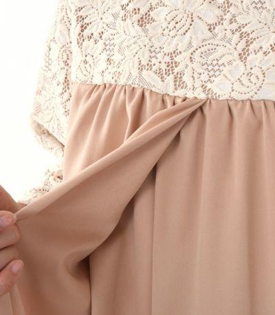 タック部分が重なっており、授乳口がより目立ちにくく、卒乳後も使えるデザイン。