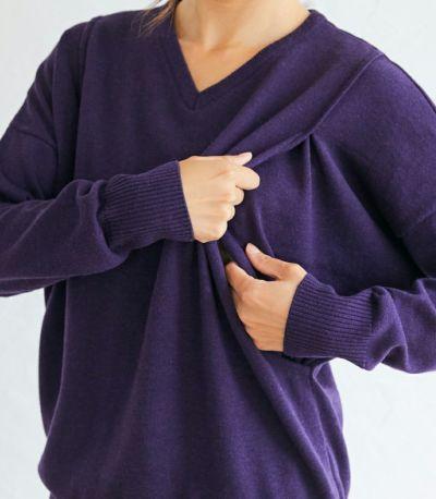 授乳口はサイドスリットタイプの授乳服 ココリータ