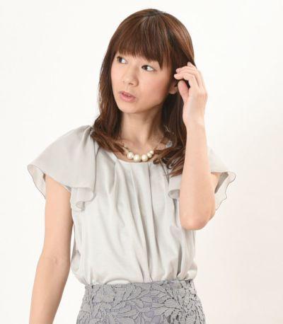 フロントスタイル 授乳服 プランタン ライトグレー 160cm