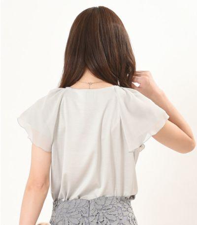 バックスタイル 授乳服 プランタン ライトグレー 160cm