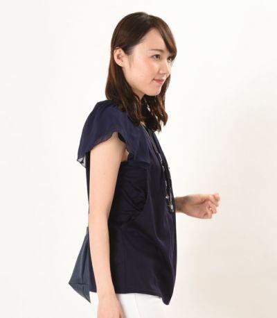 サイドスタイル 授乳服 プランタン ネイビー 164cm