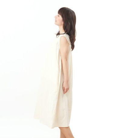 サイドスタイル 授乳服 ふんわりオーガニックワンピ ナチュラル 160cm