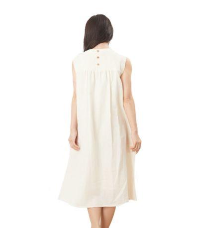 バックスタイル 授乳服 ふんわりオーガニックワンピ ナチュラル 160cm
