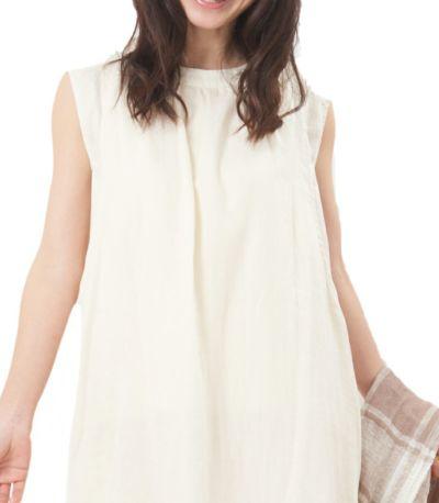 授乳服 ふんわりオーガニックワンピ ナチュラル 160cm