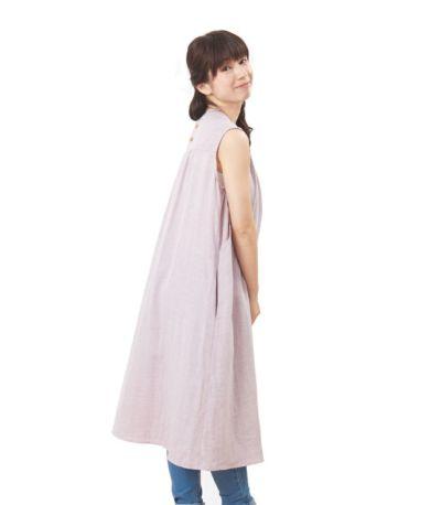 サイドスタイル 授乳服 ふんわりオーガニックワンピ ペールパープル 160cm