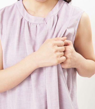 授乳口は抱っこひもとも相性の良いサイドスリットタイプの授乳服