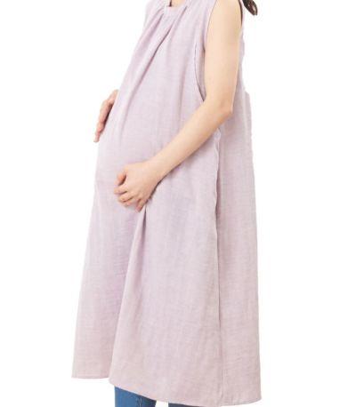 マタニティ(腹囲100cm)対応。産前も産後の授乳もきれいなシルエット。
