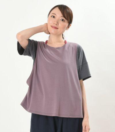 フロントスタイル 授乳服 デュオ 杢グレー 164cm